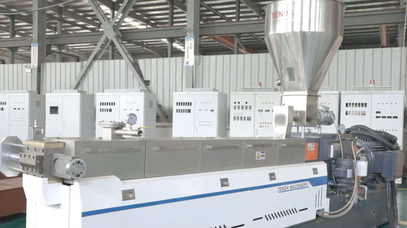 Weight Loss Weighing TSH65P Twin Screw Granulator Machine