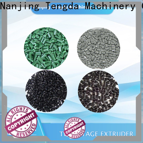 TENGDA double screw extruder machine manufacturers for plastic