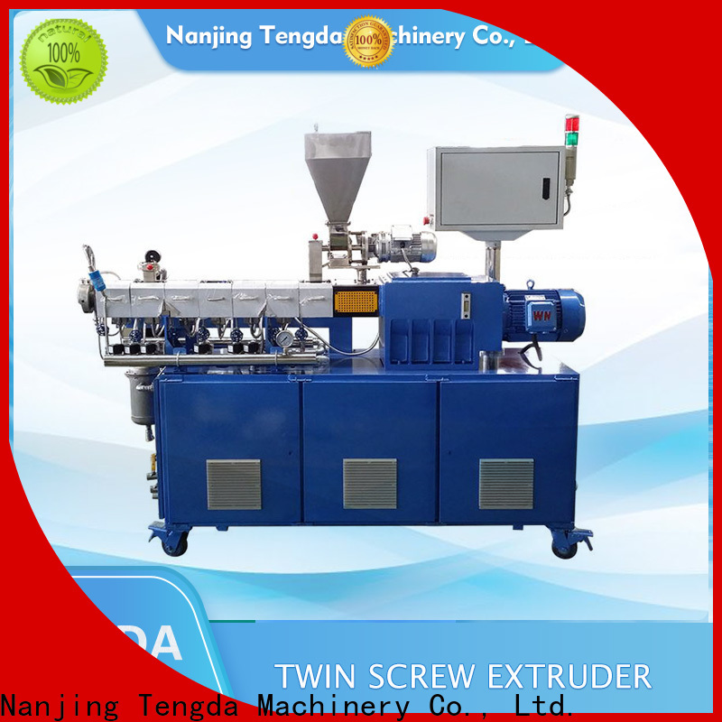 TENGDA lab scale twin screw extruder company for PVC pipe