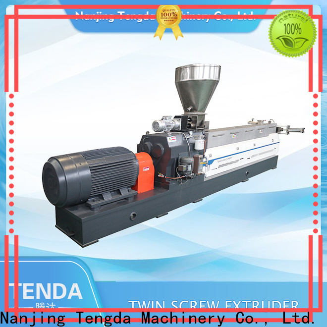 TENGDA parallel twin screw extruder factory for clay