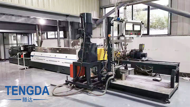 High Filler Masterbatch Twin Screw Extruder Compounding and Pelletizing Production Line